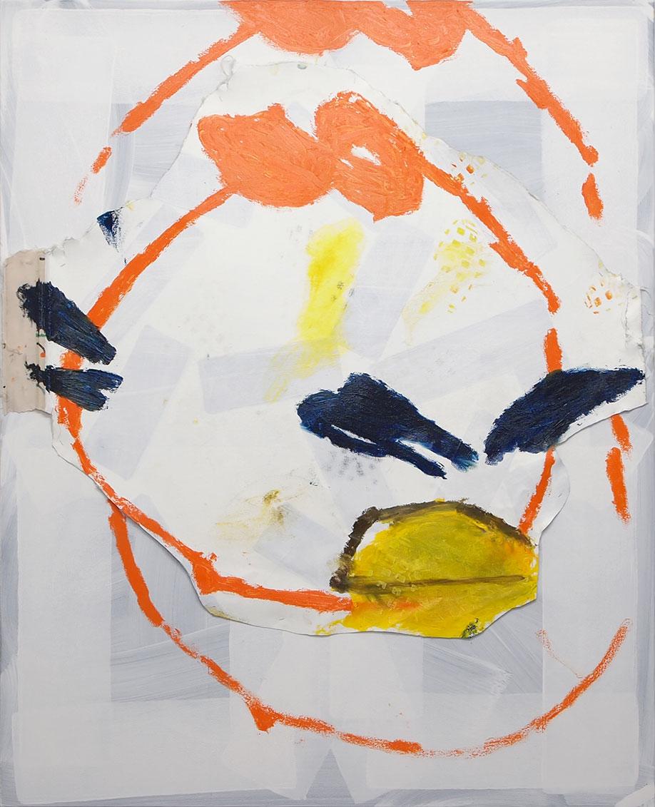 <b>Title:</b>Garden (Bird)<br /><b>Year:</b>2014<br /><b>Medium:</b>Acrylic and oil stick on canvas<br /><b>Size:</b>160 x 130 cm