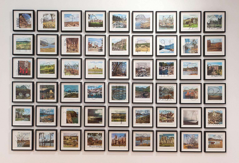 <b>Title:&nbsp;</b>England? and Scotland? series<br /><b>Year:&nbsp;</b>2012<br /><b>Medium:&nbsp;</b>Torn book pages, ink<br /><b>Size:&nbsp;</b>31 x 31 cm framed, each