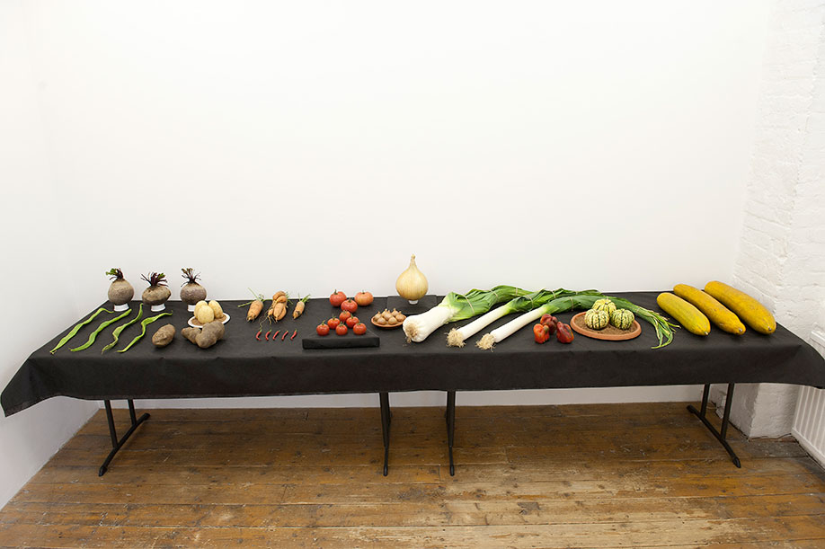 <b>Title:&nbsp;</b>Prize<br /><b>Year:&nbsp;</b>2011<br /><b>Medium:&nbsp;</b>Vegetables<br /><b>Size:&nbsp;</b>Dimensions variable