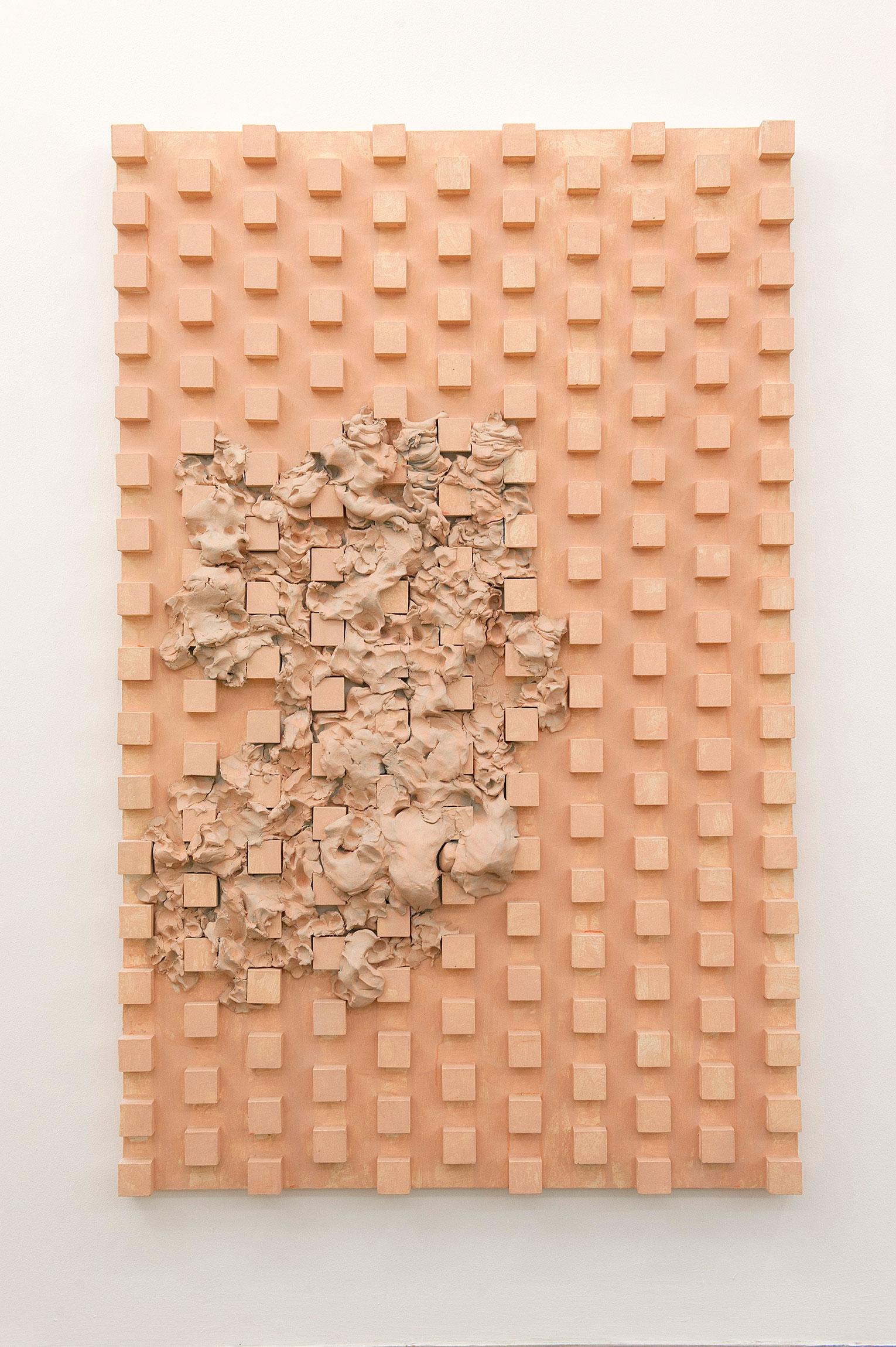 <b>Title:&nbsp;</b>Untitled<br /><b>Year:&nbsp;</b>2011<br /><b>Medium:&nbsp;</b>Plaster, air-drying clay, acrylic<br /><b>Size:&nbsp;</b>132 x 84 cm