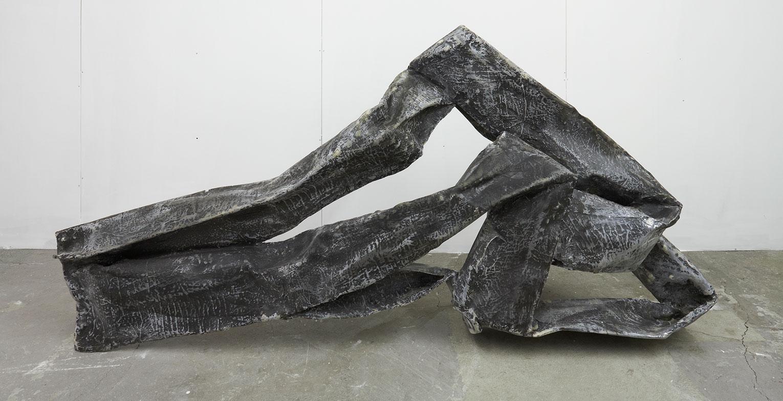 <b>Title:&nbsp;</b>Fold<br /><b>Year:&nbsp;</b>2011<br /><b>Medium:&nbsp;</b>Paper, resin, fibreglass and paint<br /><b>Size:&nbsp;</b>103 x 226 x 75 cm