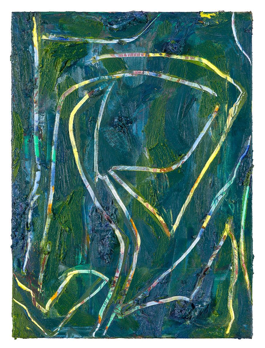 <b>Title:&nbsp;</b>Heel<br /><b>Year:&nbsp;</b>2013<br /><b>Medium:&nbsp;</b>Oil and spray paint on canvas<br /><b>Size:&nbsp;</b>56 x 40 cm