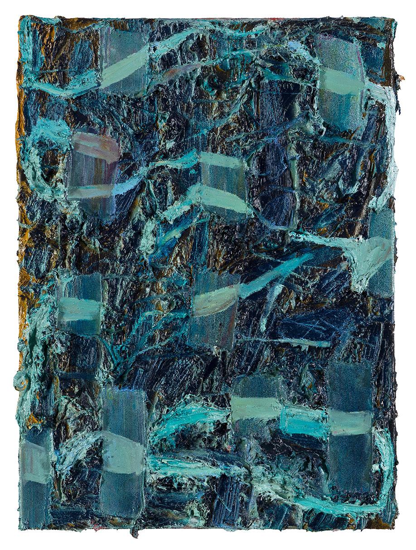 <b>Title:&nbsp;</b>Rib<br /><b>Year:&nbsp;</b>2013<br /><b>Medium:&nbsp;</b>Oil and spray paint on canvas<br /><b>Size:&nbsp;</b>56 x 40 cm