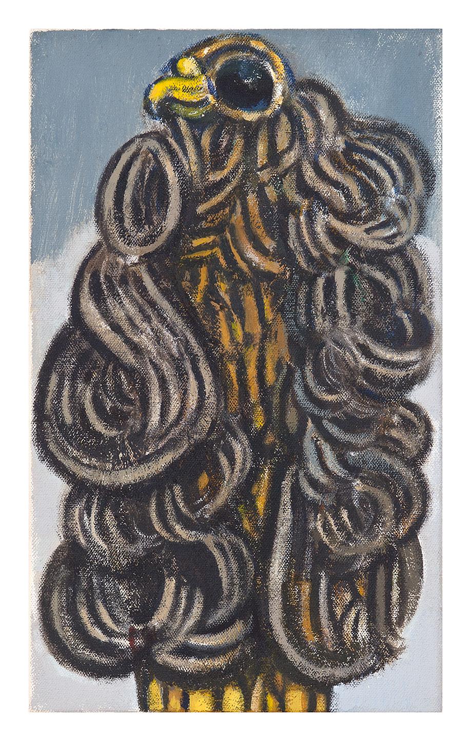 <b>Title:&nbsp;</b>Adler<br /><b>Year:&nbsp;</b>2012<br /><b>Medium:&nbsp;</b>Oil on canvas<br /><b>Size:&nbsp;</b>35.8 x 15.6 cm