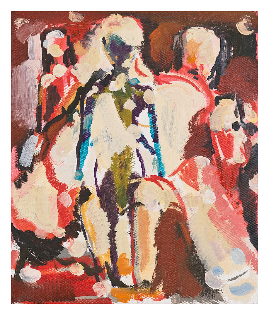 <b>Title:&nbsp;</b>Fashion World<br /><b>Year:&nbsp;</b>2012<br /><b>Medium:&nbsp;</b>Oil on canvas<br /><b>Size:&nbsp;</b>30.5 x 25.5 cm