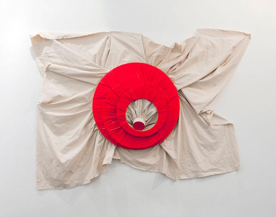 <b>Title:&nbsp;</b>Fluor Red<br /><b>Year:&nbsp;</b>2013<br /><b>Medium:&nbsp;</b>Oil on canvas<br /><b>Size:&nbsp;</b>225 x 280 x 30 cm