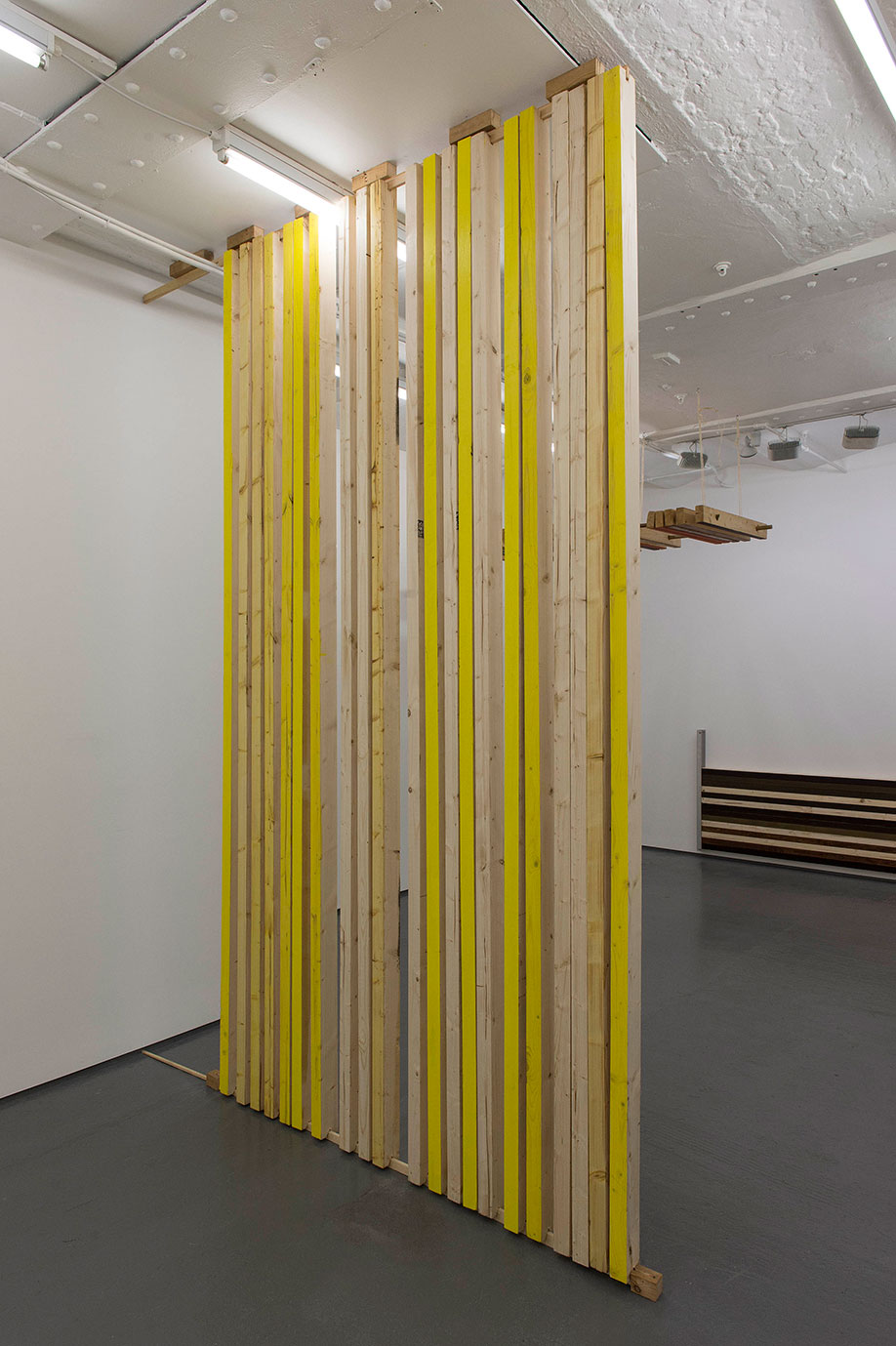 <b>Title:&nbsp;</b>Room Wood<br /><b>Year:&nbsp;</b>2015<br /><b>Medium:&nbsp;</b>Wood, metal and paint<br /><b>Size:&nbsp;</b>Dimensions variable