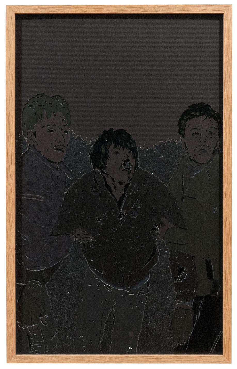 <b>Title:&nbsp;</b>Black Stuff<br /><b>Year:&nbsp;</b>2011<br /><b>Medium:&nbsp;</b>Paper collage<br /><b>Size:&nbsp;</b>42 x 66.1 cm