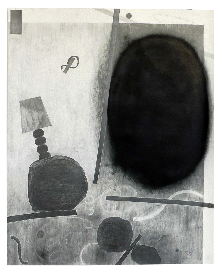 <b>Title:&nbsp;</b>Clock<br /><b>Year:&nbsp;</b>2010<br /><b>Medium:&nbsp;</b>Pencil on paper<br /><b>Size:&nbsp;</b>190 x 160 cm