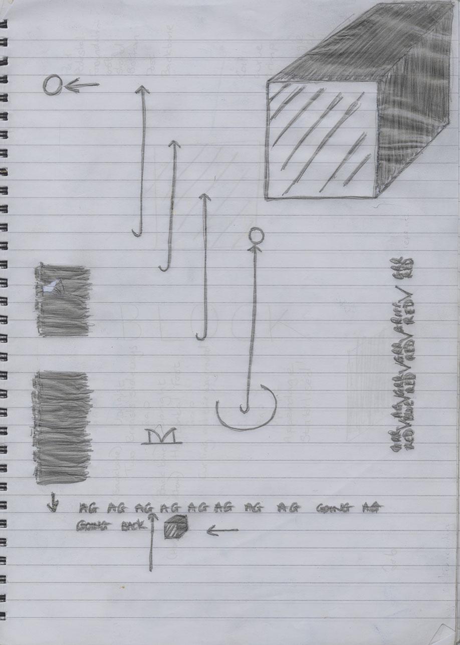 <b>Title:&nbsp;</b>Bored by Kindness Swish, by Sarah Jones<br /><b>Medium:&nbsp;</b>Graphic score<br /><b>Size:&nbsp;</b>29.7 x 21 cm