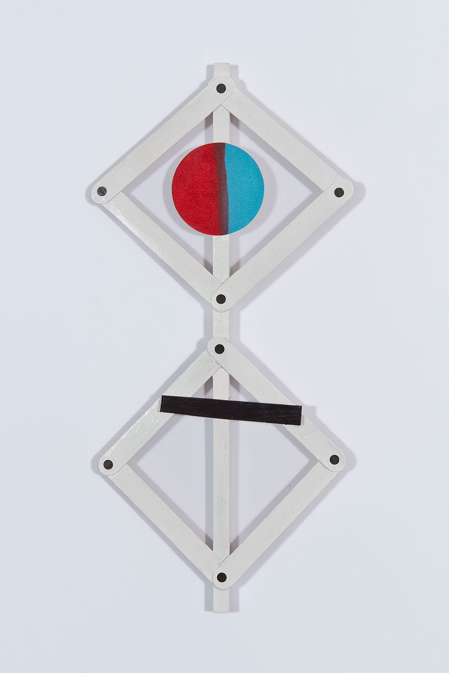 <b>Title:&nbsp;</b>Untitled<br /><b>Year:&nbsp;</b>2013<br /><b>Medium:&nbsp;</b>Enamel, ink, paper, and wood<br /><b>Size:&nbsp;</b>45 x 22 cm
