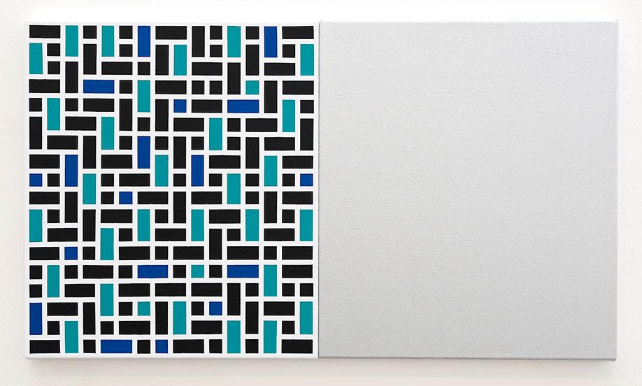 <b>Title:&nbsp;</b>School of Architecture<br /><b>Year:&nbsp;</b>2014<br /><b>Medium:&nbsp;</b>Acrylic on two canvasses <br /><b>Size:&nbsp;</b>41 x 72 cm