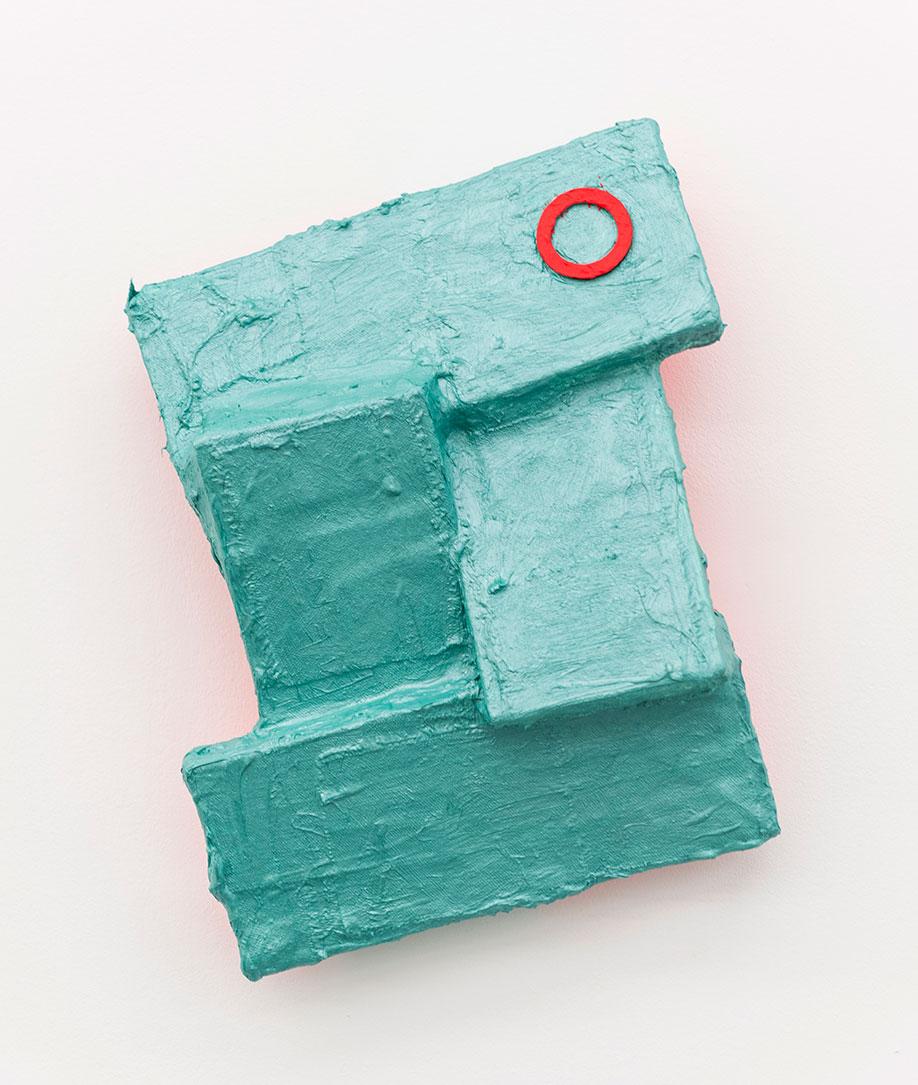 <b>Title:&nbsp;</b>Pool<br /><b>Year:&nbsp;</b>2015<br /><b>Medium:&nbsp;</b>Oil, canvas, and wood<br /><b>Size:&nbsp;</b>30 x 25 x 8 cm