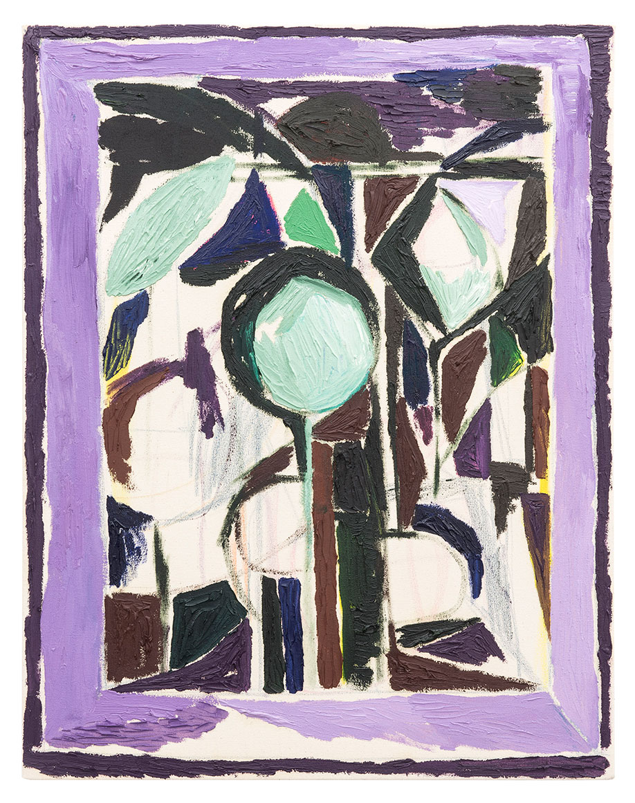 <b>Title:&nbsp;</b>Window (Violet)<br /><b>Year:&nbsp;</b>2016<br /><b>Medium:&nbsp;</b>Oil and crayon on canvas<br /><b>Size:&nbsp;</b>71 x 56 cm