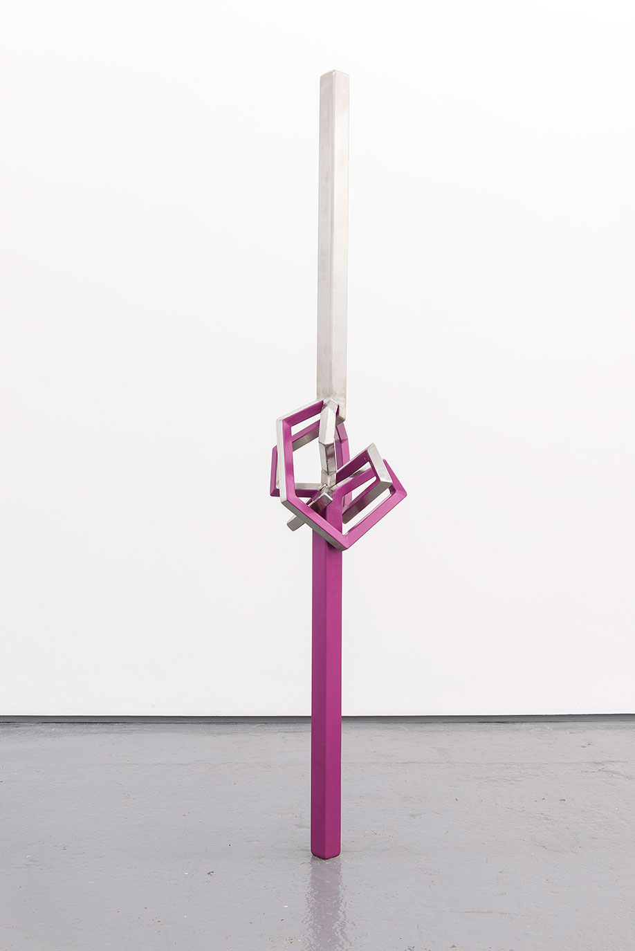 <b>Title:&nbsp;</b>Himalayan Balsam<br /><b>Year:&nbsp;</b>2013<br /><b>Medium:&nbsp;</b>Powder-coated stainless steel<br /><b>Size:&nbsp;</b>145 x 27 x 18 cm