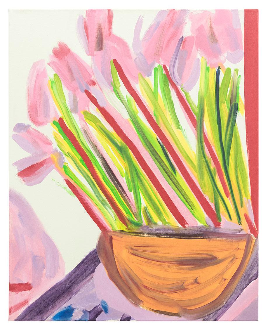 <b>Title:&nbsp;</b>Studio Flowers #47<br /><b>Year:&nbsp;</b>2016<br /><b>Medium:&nbsp;</b>Oil on canvas<br /><b>Size:&nbsp;</b>76 x 61 cm