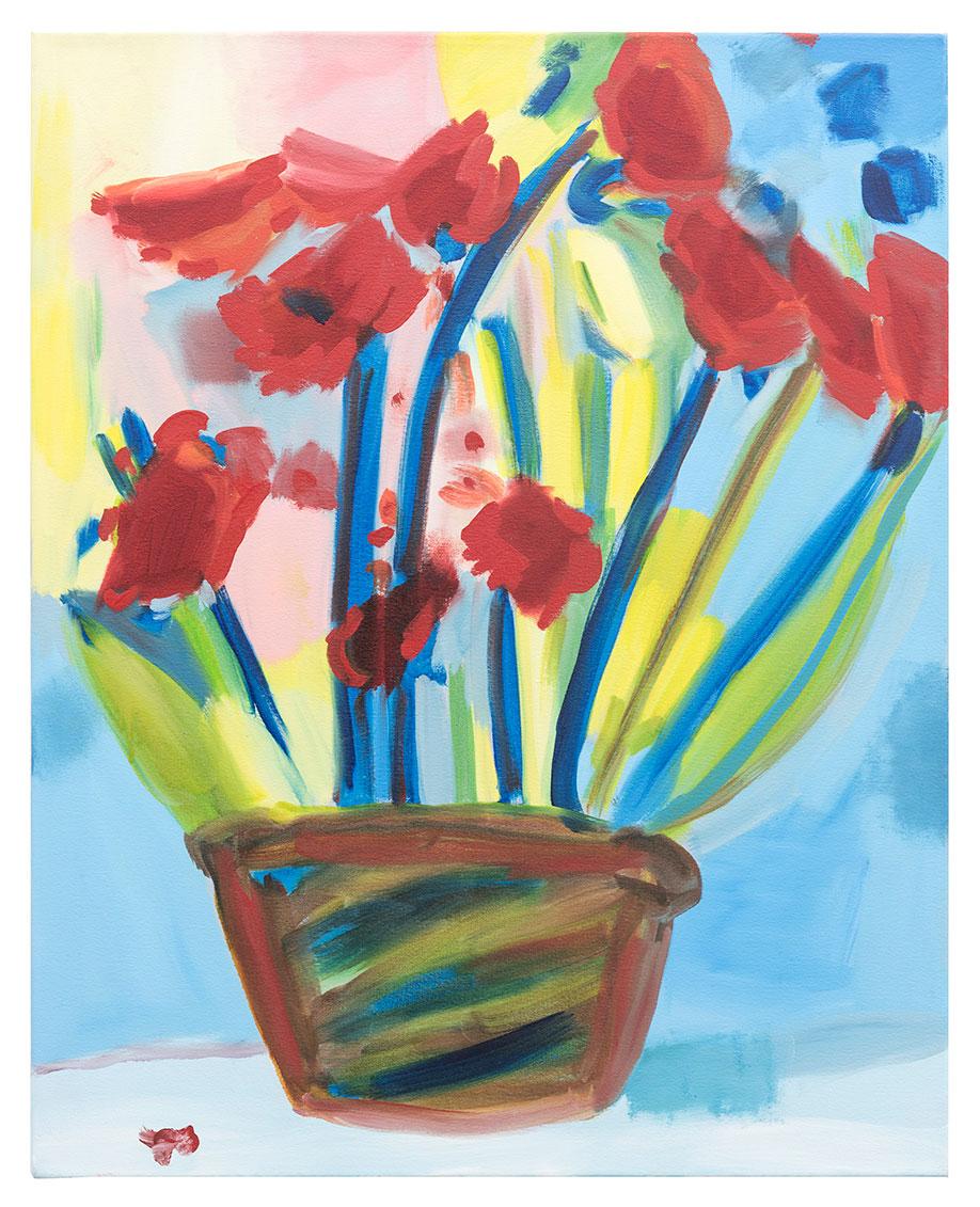 <b>Title:&nbsp;</b>Studio Flowers #49<br /><b>Year:&nbsp;</b>2016<br /><b>Medium:&nbsp;</b>Oil on canvas<br /><b>Size:&nbsp;</b>76 x 61 cm