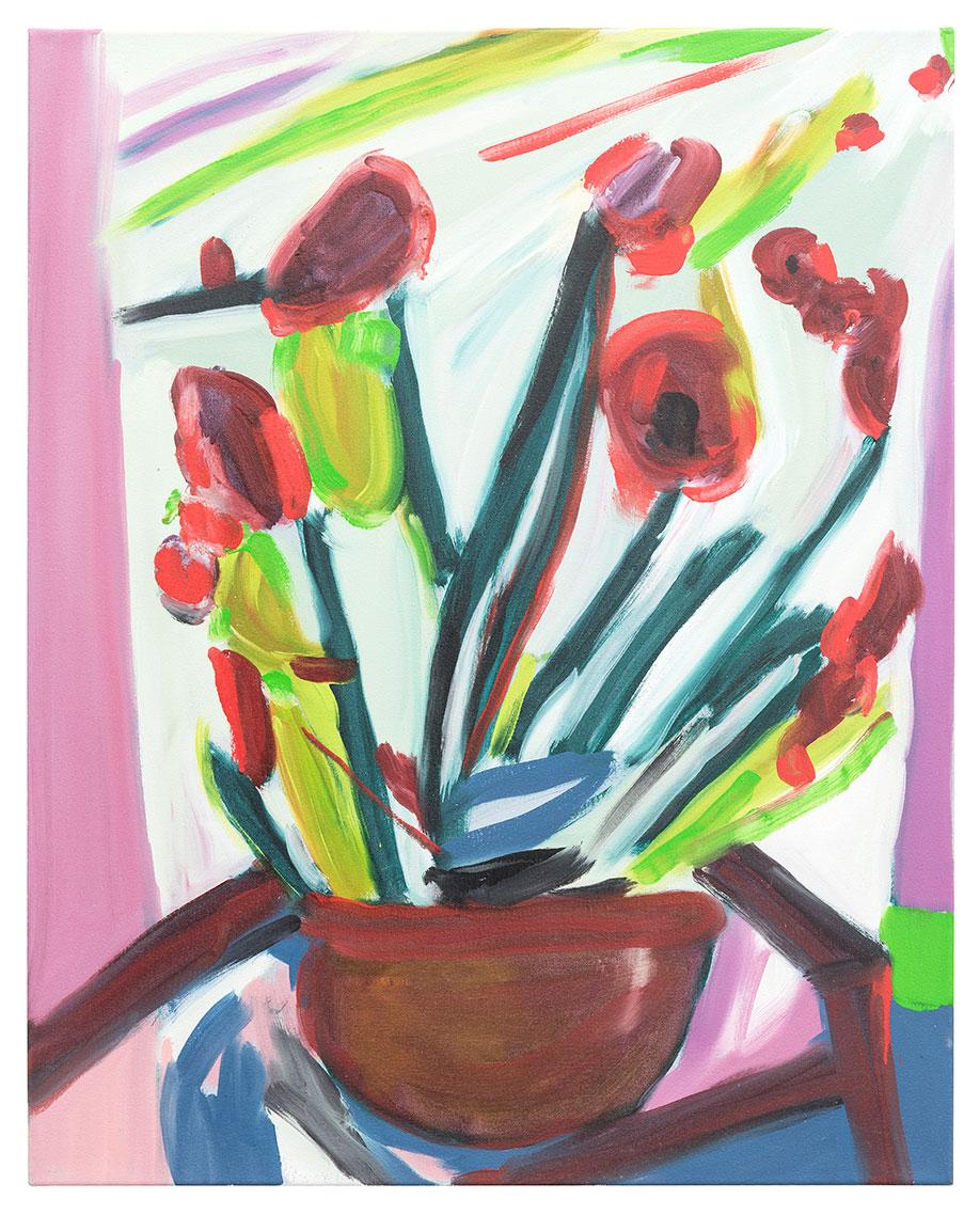 <b>Title:&nbsp;</b>Studio Flowers #56<br /><b>Year:&nbsp;</b>2016<br /><b>Medium:&nbsp;</b>Oil on canvas<br /><b>Size:&nbsp;</b>76 x 61 cm