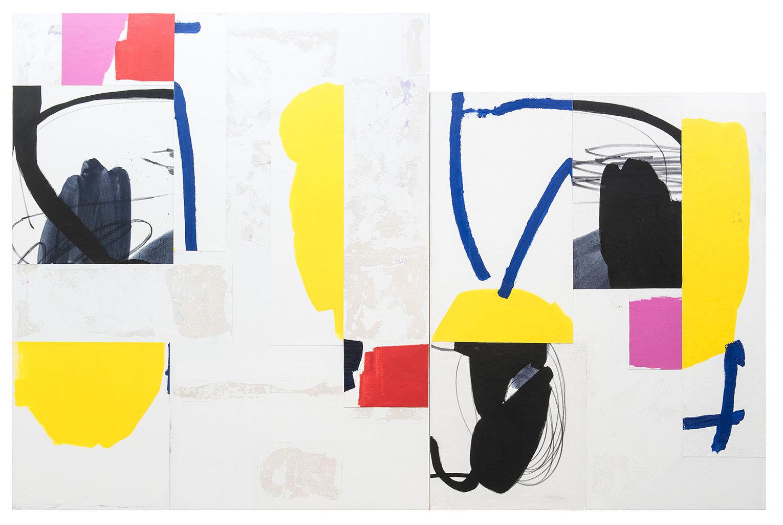 <b>Title:</b>Mother and Child<br /><b>Year:</b>2016<br /><b>Medium:</b>Oil and acrylic on canvas<br /><b>Size:</b>190 x 290 cm