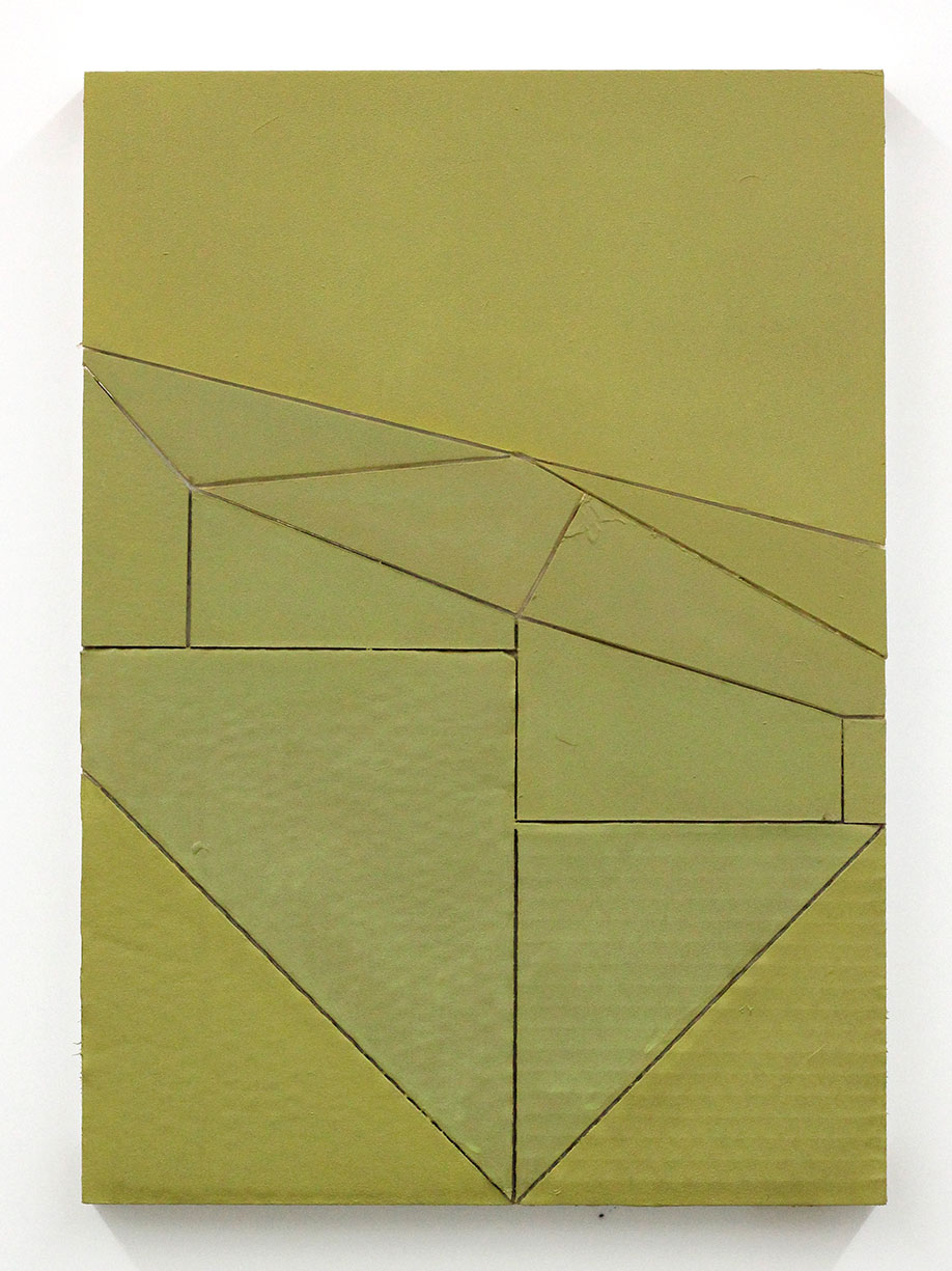 <b>Title: </b>Untitled (Proximity) 33<br /><b>Year: </b>2016<br /><b>Medium: </b>acrylic, vinyl, lacquer, cardboard, wood<br /><b>Size: </b>42 x 30 cm