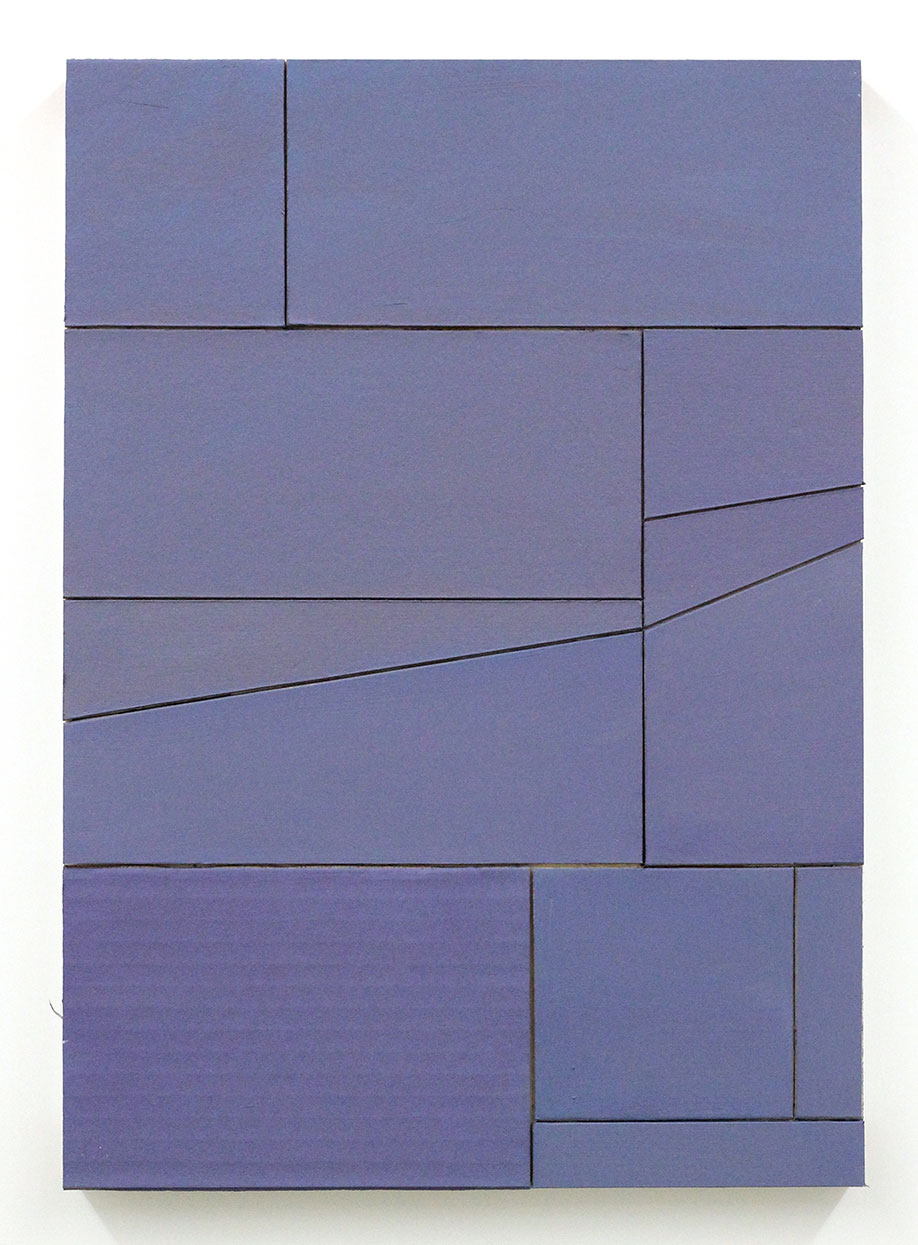<b>Title: </b>Untitled (Proximity) 36 <br /><b>Year: </b>2016<br /><b>Medium: </b>acrylic, vinyl, lacquer, cardboard, wood<br /><b>Size: </b>42 x 30 cm