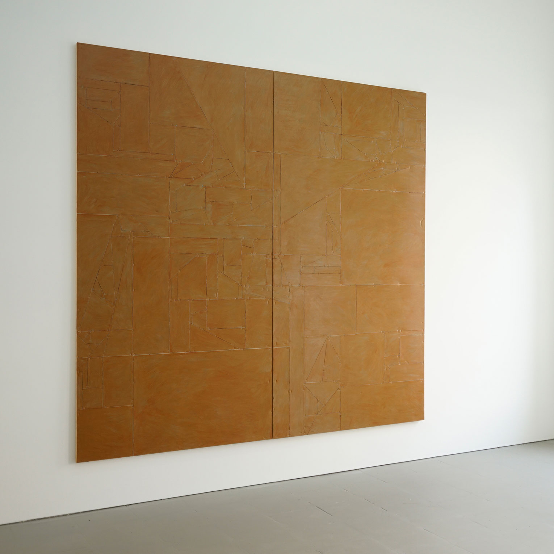 <b>Title:&nbsp;</b>Untitled (Vanish) 02<br /><b>Year:&nbsp;</b>2015<br /><b>Medium:&nbsp;</b>Acrylic, lacquer, vinyl, cardboard, wood<br /><b>Size:&nbsp;</b>240 x 240 cm (Diptych)