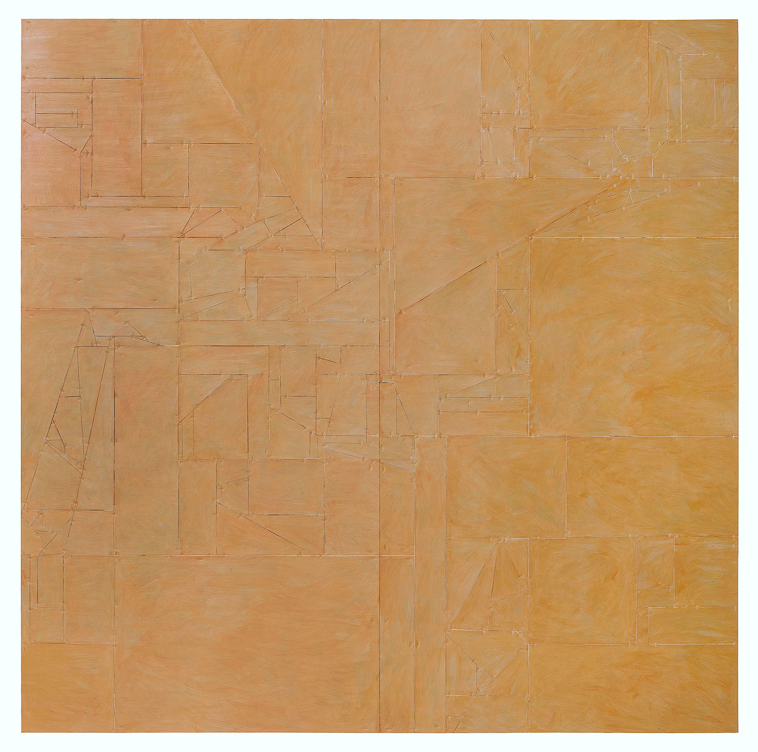 <b>Title: </b>Untitled (Vanish) 02<br /><b>Year: </b>2015<br /><b>Medium: </b>Acrylic, lacquer, vinyl, cardboard, wood<br /><b>Size: </b>240 x 240 cm (Diptych: 2 plates, 240 x 120 each)