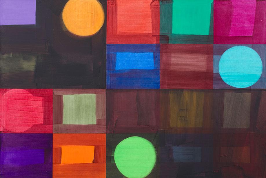 <b>Title:&nbsp;</b>Wilbury Four<br /><b>Year:&nbsp;</b>2017<br /><b>Medium:&nbsp;</b>Acrylic on canvas<br /><b>Size:&nbsp;</b>100 x 150cm