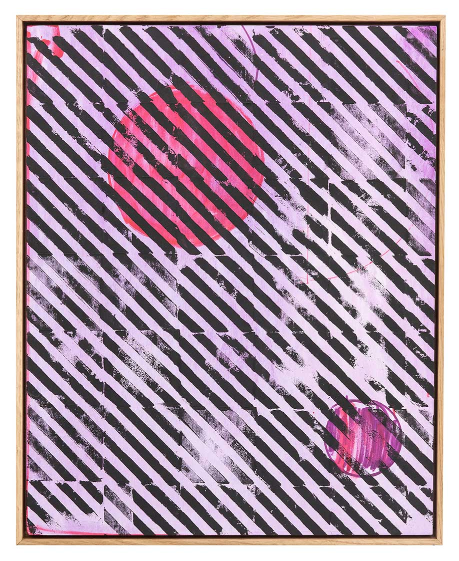 <b>Title:&nbsp;</b>UNTITLED<br /><b>Year:&nbsp;</b>2018<br /><b>Medium:&nbsp;</b>Ink and spray paint on plywood panel⠀<br /><b>Size:&nbsp;</b>50 x 40 cm