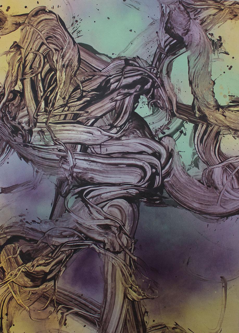 <b>Title:&nbsp;</b>Dark Rain<br /><b>Year:&nbsp;</b>2018<br /><b>Medium:&nbsp;</b>Acrylic and oil on canvas<br /><b>Size:&nbsp;</b>180 x 130 cm