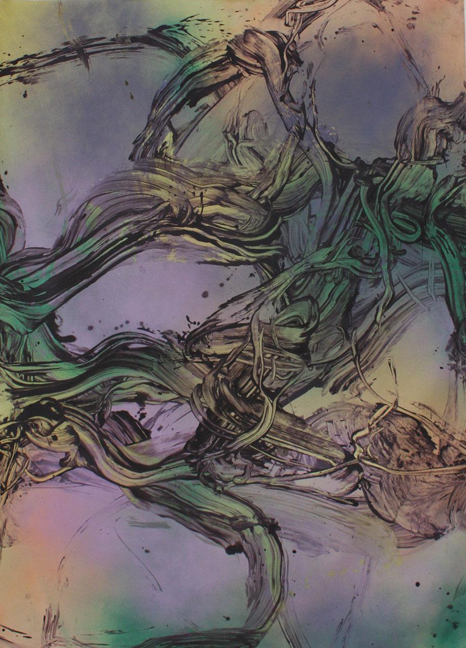 <b>Title:&nbsp;</b>Sharp and Soon<br /><b>Year:&nbsp;</b>2018<br /><b>Medium:&nbsp;</b>Acrylic and oil on canvas<br /><b>Size:&nbsp;</b>210 x 155 cm