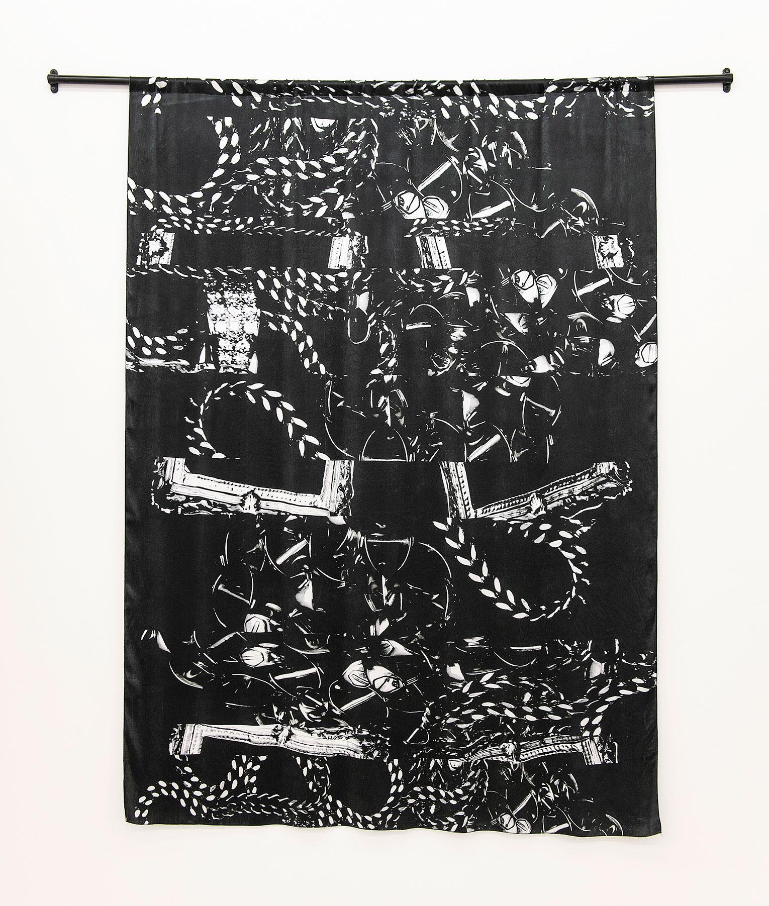 <b>Title:&nbsp;</b>Dubois X Fanon<br /><b>Year:&nbsp;</b>2018<br /><b>Medium:&nbsp;</b>Digital print on Silk Chiffon<br /><b>Size:&nbsp;</b>170 x 125 cm