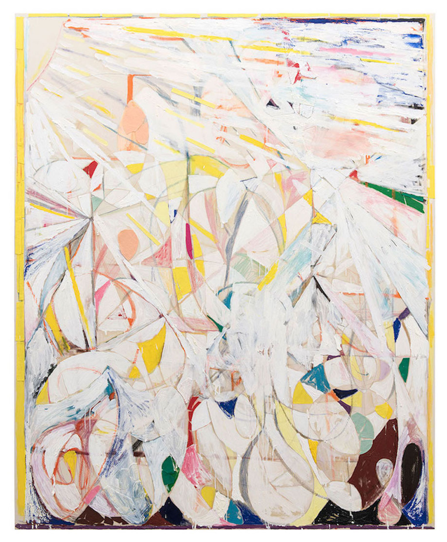 <b>Title:</b>Slowly Fading Forms<br /><b>Year:</b>2016<br /><b>Medium:</b>mixed media on canvas<br /><b>Size:</b>210cm  x 170cm