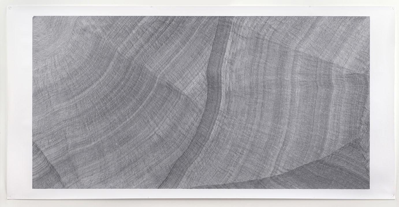 <b>Title:&nbsp;</b>Curved Lines<br /><b>Year:&nbsp;</b>2012-15<br /><b>Medium:&nbsp;</b>Ink on paper<br /><b>Size:&nbsp;</b>304.5 x 151cm