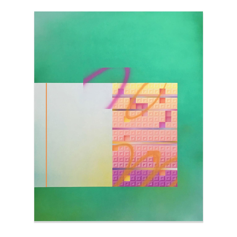 <b>Title:&nbsp;</b>LM><IRL<br /><b>Year:&nbsp;</b>2018<br /><b>Medium:&nbsp;</b>Acrylic on canvas<br /><b>Size:&nbsp;</b>120cm x 150cm