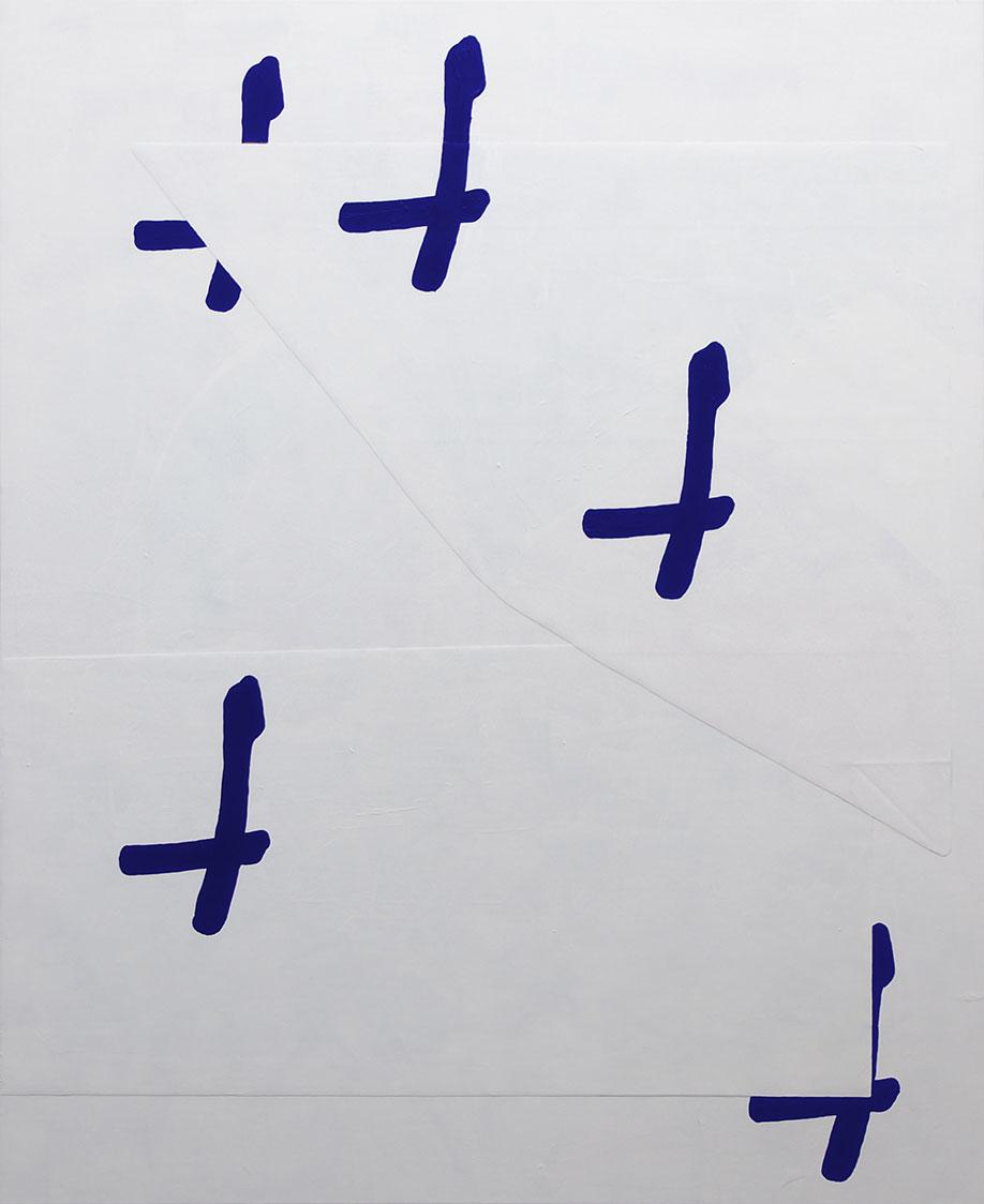 <b>Title:</b>XXXXX<br /><b>Year:</b>2017<br /><b>Medium:</b>Acrylic on collaged Pvc and canvas<br /><b>Size:</b>160 x 130 cm