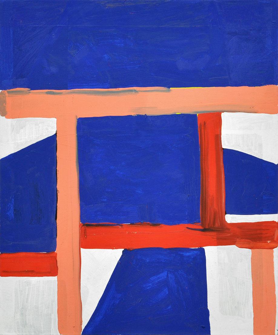 <b>Title:</b> Hammer Head<br /><b>Year:</b>2018<br /><b>Medium:</b>Oil on canvas<br /><b>Size:</b>91 x 76 cm