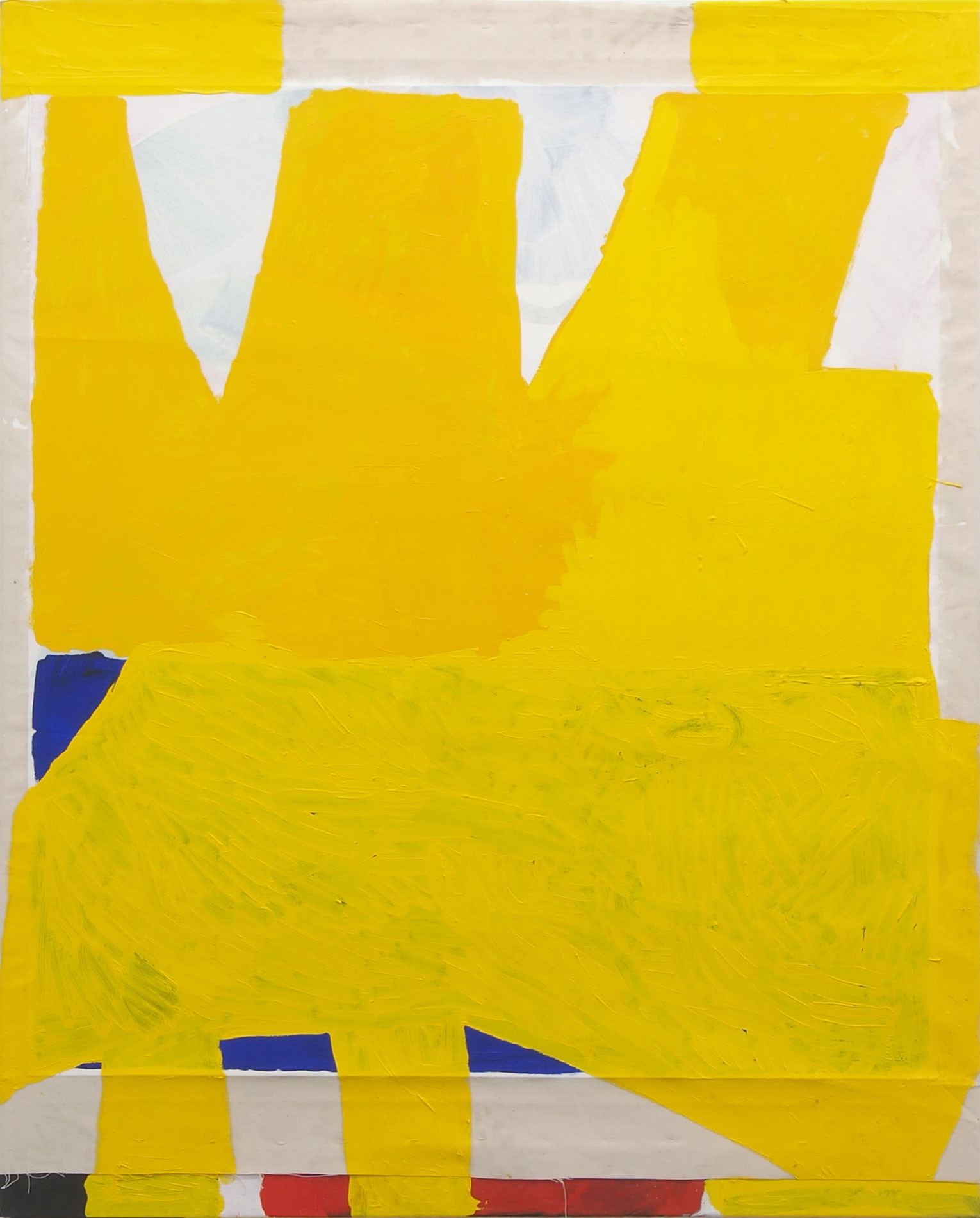 <b>Title:</b>Yellow Painting<br /><b>Year:</b>2017<br /><b>Medium:</b>Oil on collaged canvas<br /><b>Size:</b>150 x 120 cm