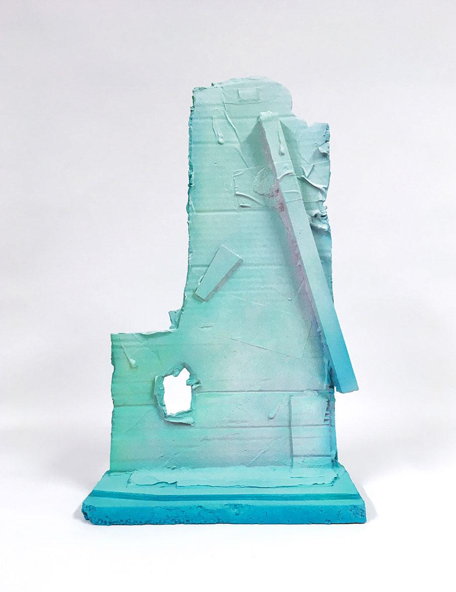 <b>Title:</b>Boot<br /><b>Year:</b>2017<br /><b>Medium:</b>Sand cast aluminium enamel and spray paint<br /><b>Size:</b>53 x 23 x 17 cm