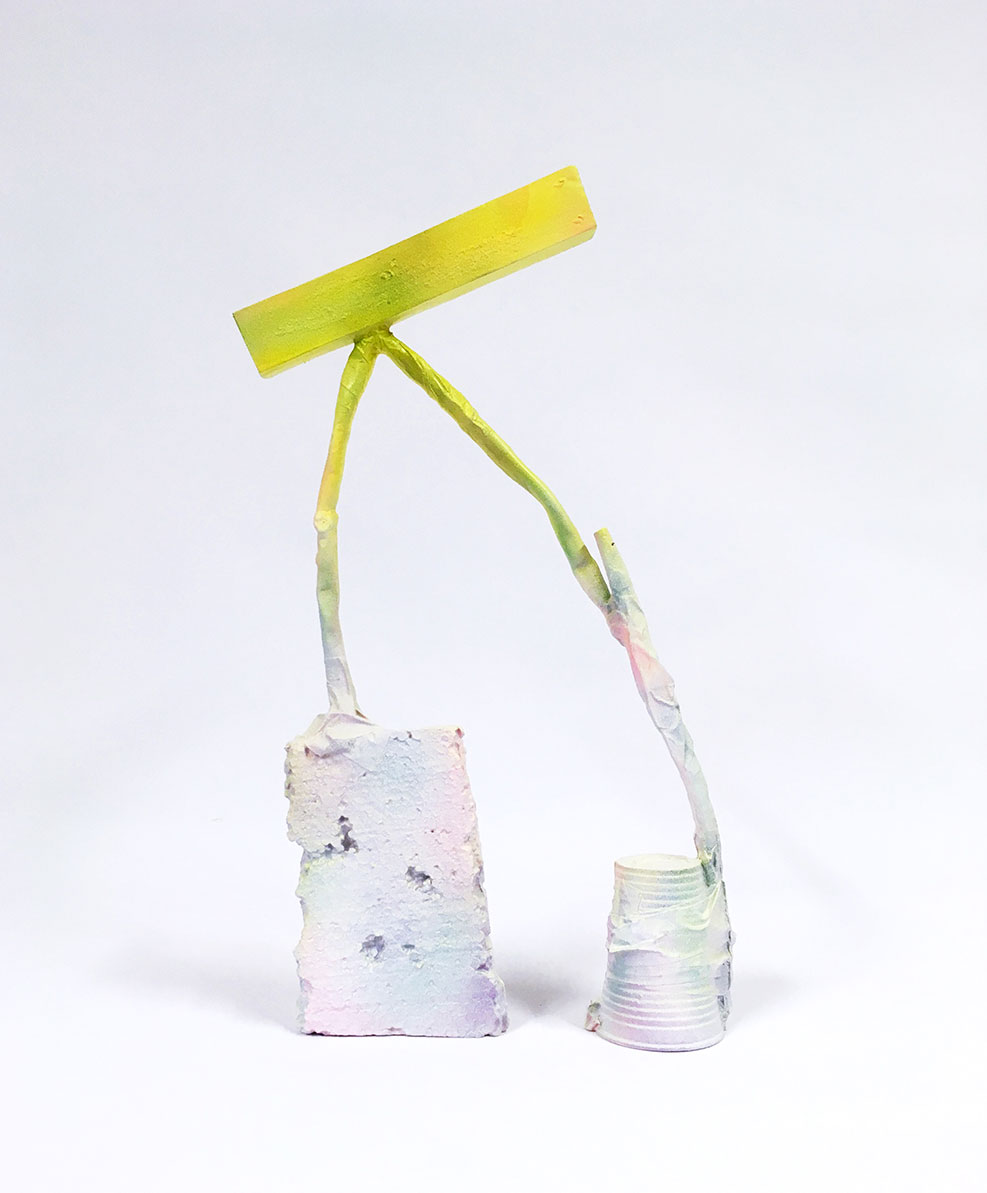 <b>Title:</b>Fitness Centre<br /><b>Year:</b>2018<br /><b>Medium:</b>Sand cast aluminium enamel and spray paint<br /><b>Size:</b>43 x 27 x 7 cm