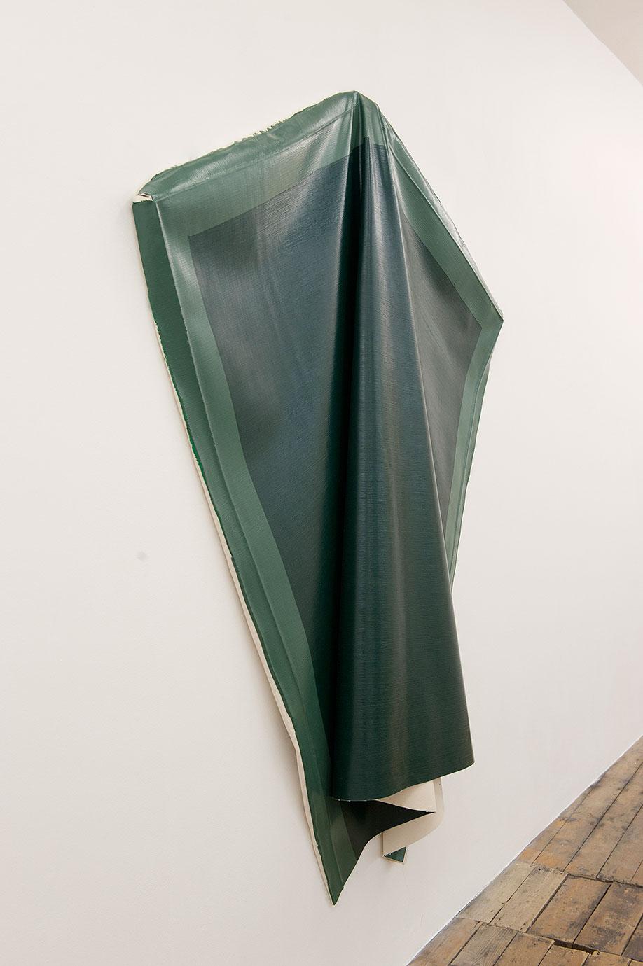 <b>Title:</b>Deflated Green<br /><b>Year:</b>2010<br /><b>Medium:</b>Oil on canvas<br /><b>Size:</b>153 x 180 cm