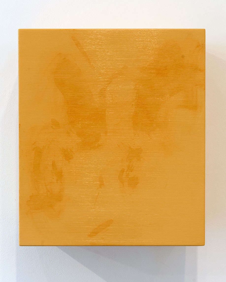 <b>Title:</b>Dirty I (Cream I)<br /><b>Year:</b>2010<br /><b>Medium:</b>Oil and acrylic on aluminium<br /><b>Size:</b>54 x 47 x 28 cm