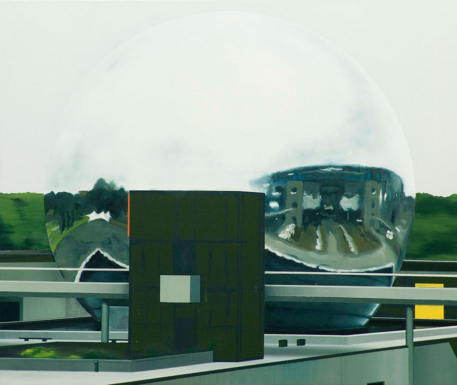 <b>Title: </b>The Future As A Sphere<br /><b>Year: </b>2011<br /><b>Medium: </b>Oil on canvas<br /><b>Size: </b>153 x 182 cm