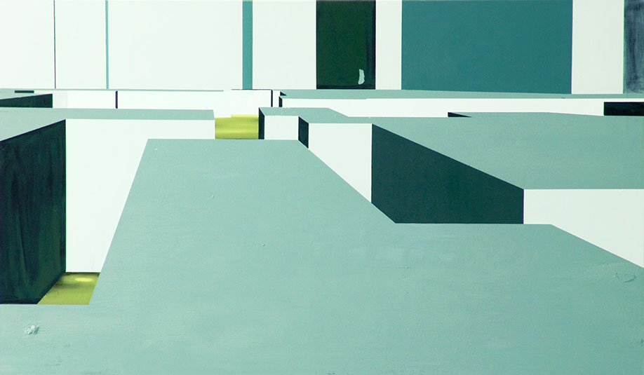 <b>Title: </b>Our New Latin Quarters<br /><b>Year: </b>2011<br /><b>Medium: </b>Oil on canvas<br /><b>Size: </b>110 x 184 cm