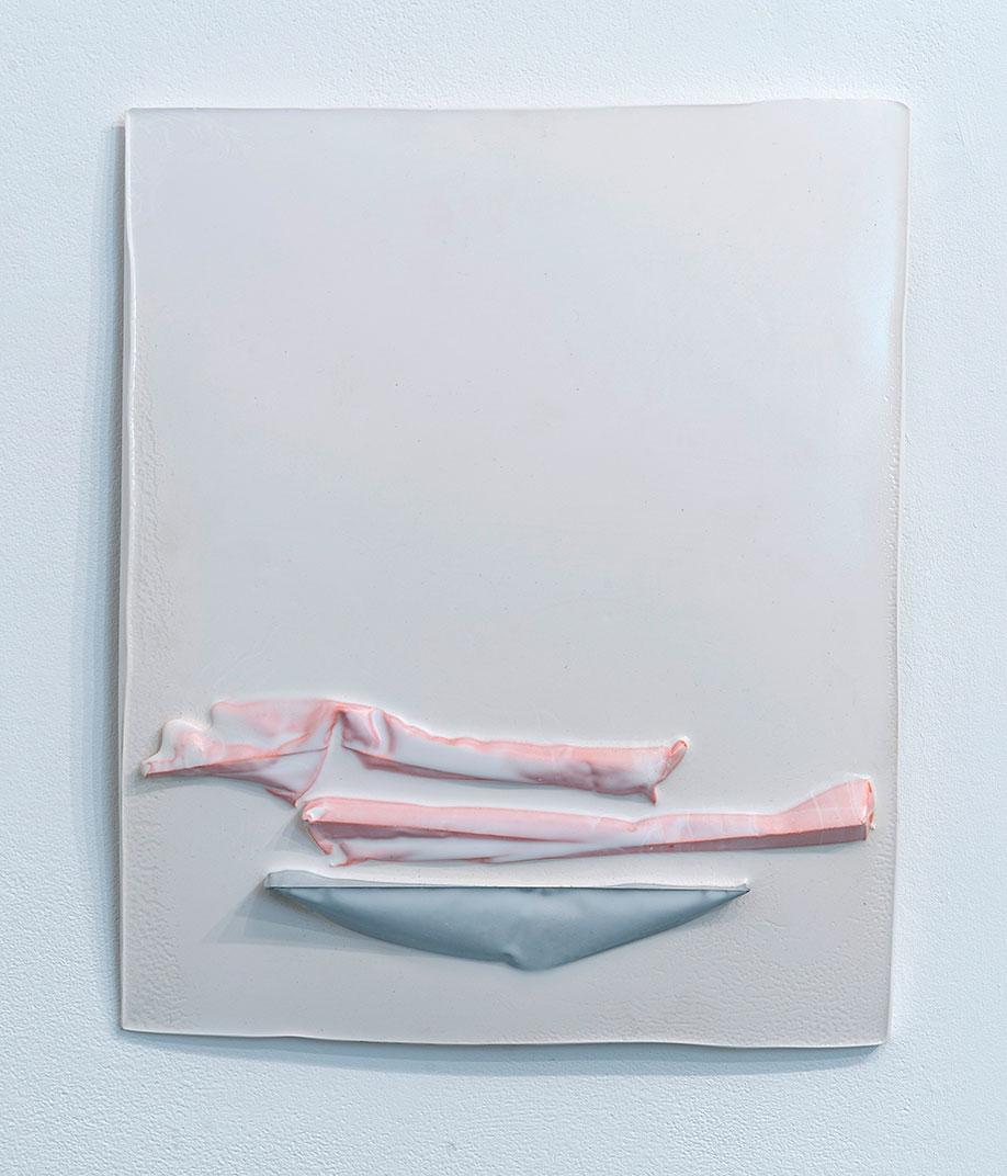 <b>Title:</b>A Swiss Teenager<br /><b>Year:</b>2014<br /><b>Medium:</b>Polyester resin<br /><b>Size:</b>44 x 38 x 2 cm