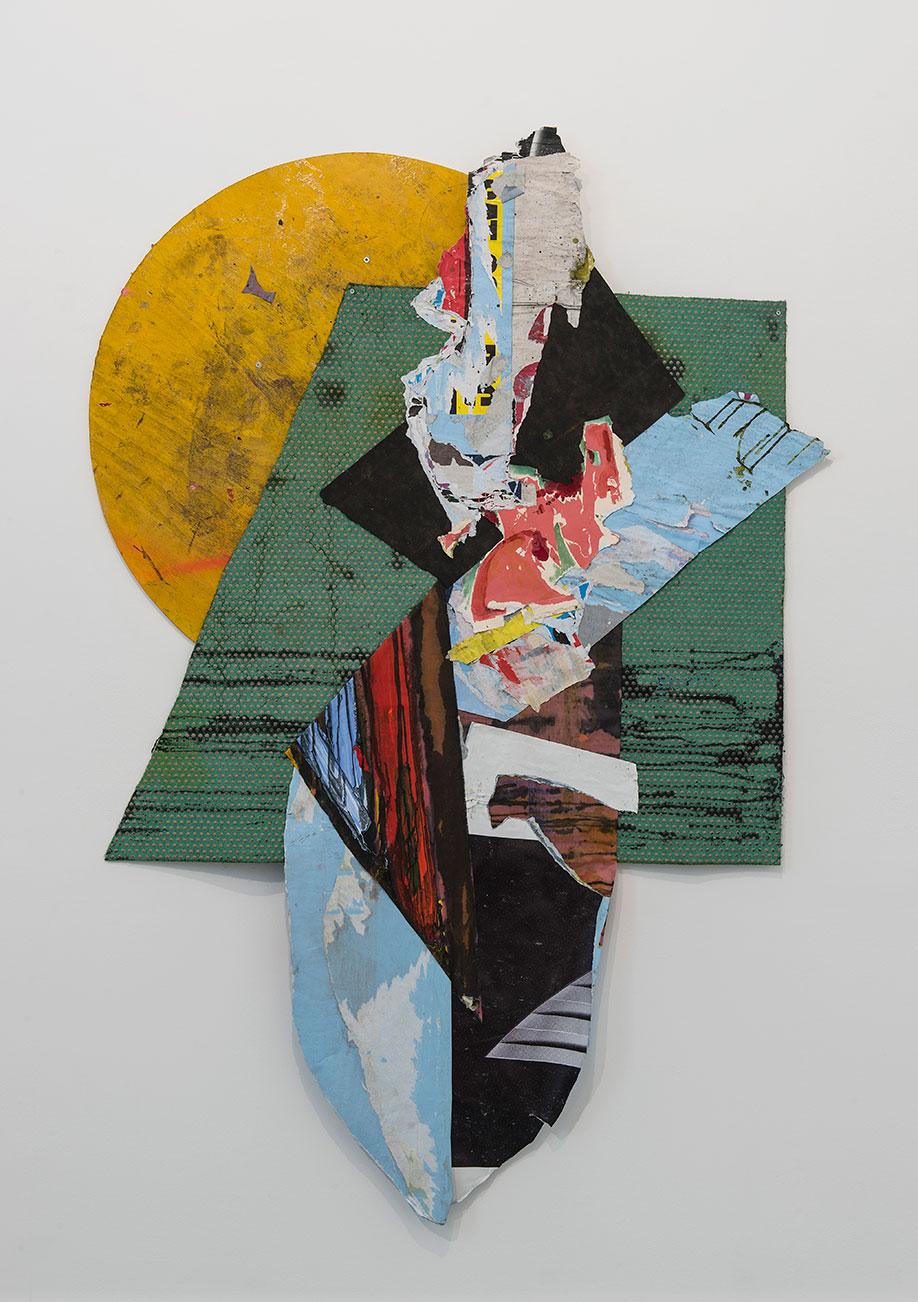 <b>Title:</b>Wallflower<br /><b>Year:</b>2013-14<br /><b>Medium:</b>Mixed media collage<br /><b>Size:</b>195 x 135 cm