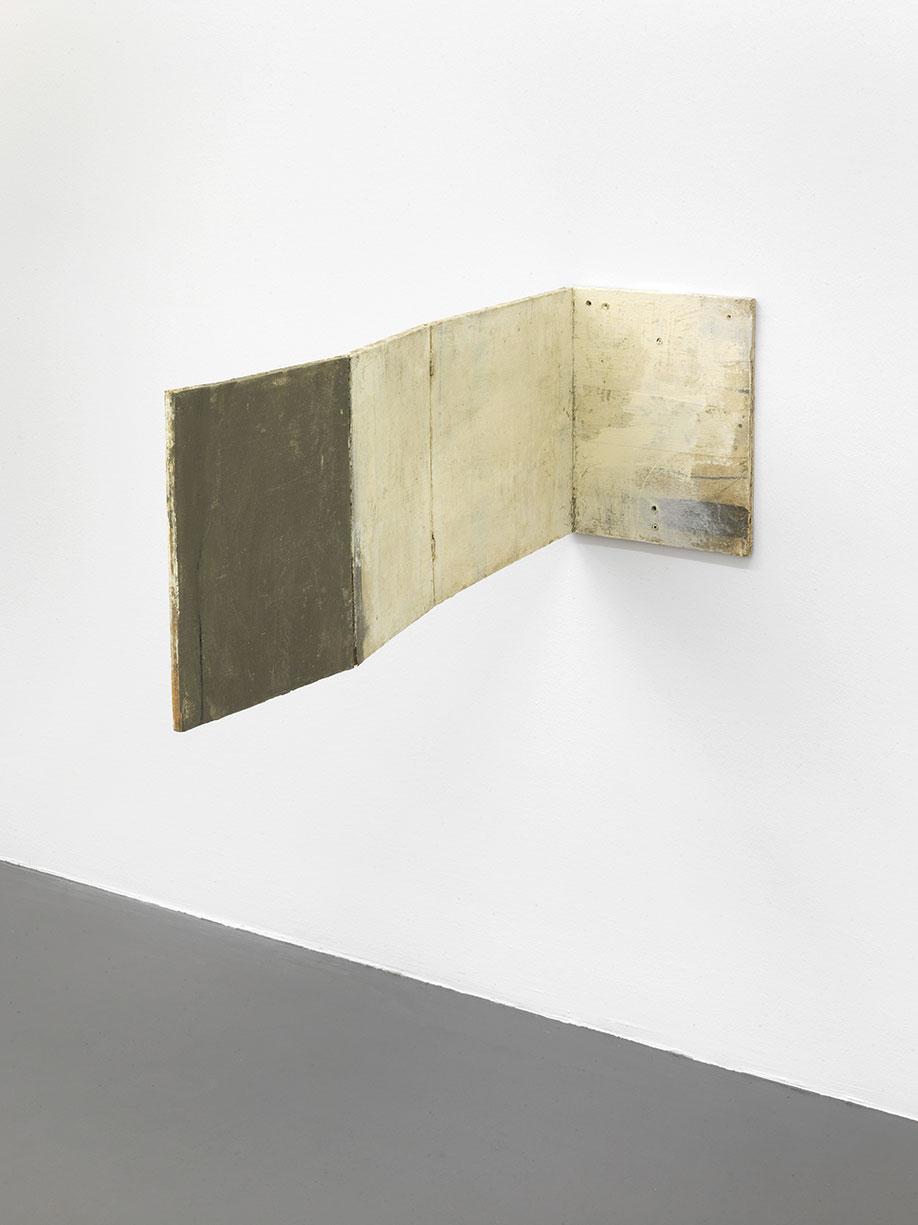<b>Title:</b>Untitled (Hinge Painting)<br /><b>Year:</b>2013<br /><b>Medium:</b>Oil and wax on canvas on wood<br /><b>Size:</b>37 x 27.5 x 95 cm
