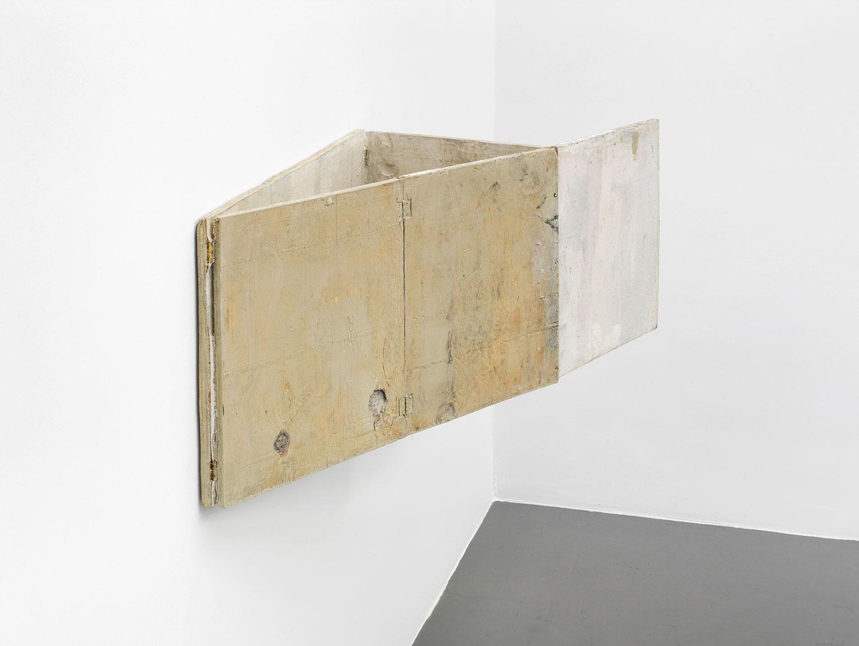 <b>Title:</b>Untitled (Hinge Painting)<br /><b>Year:</b>2013<br /><b>Medium:</b>Oil and wax on wood<br /><b>Size:</b>38 x 34 x 92 cm