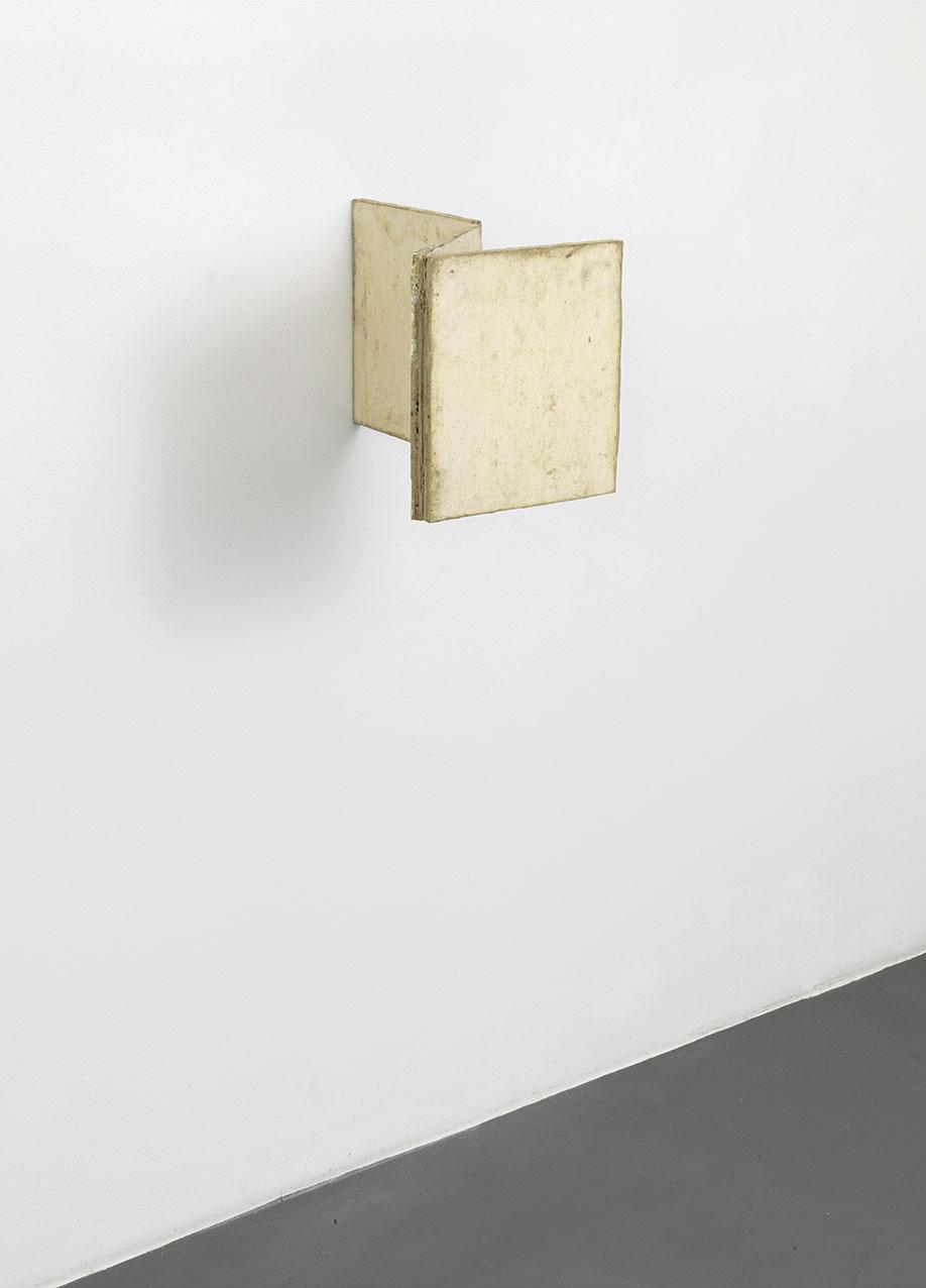 <b>Title:</b>Untitled (Hinge Painting)<br /><b>Year:</b>2013<br /><b>Medium:</b>Oil and wax on wood<br /><b>Size:</b>28 x 24 x 37 cm