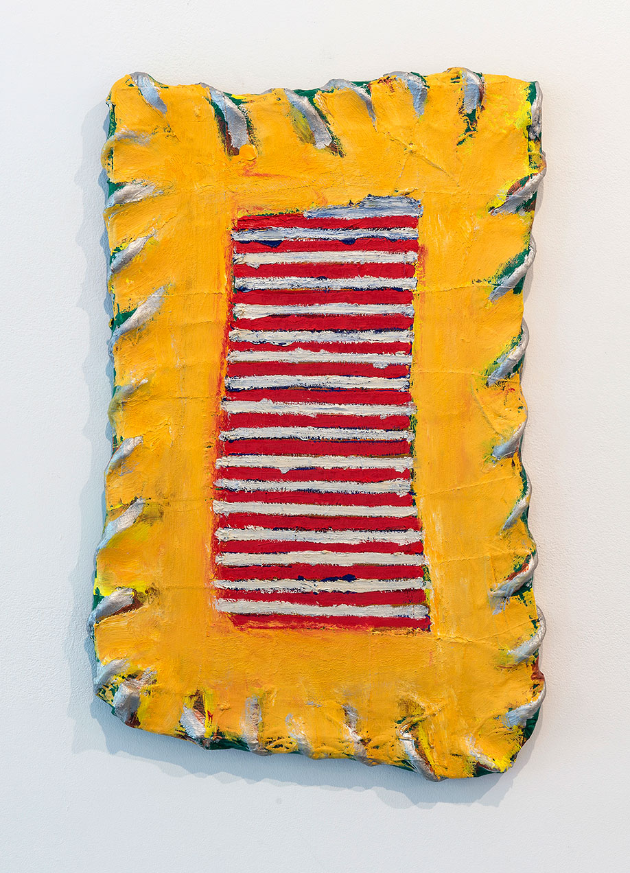 <b>Title:</b>On The Terrace<br /><b>Year:</b>2008<br /><b>Medium:</b>Oil on canvas with rope on board<br /><b>Size:</b>67 x 41 x 4 cm
